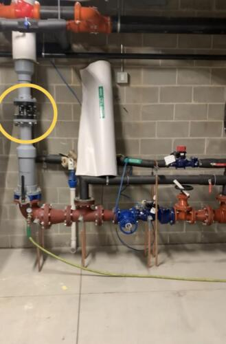 "This 4"" Smart Valve was successfully installed in a section of PVC in a large residential property in Minneapolis."